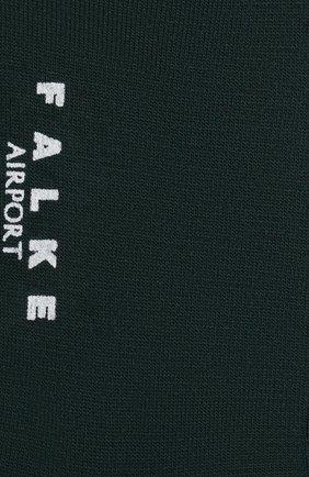 Мужские носки airport из шерсти и хлопка FALKE темно-зеленого цвета, арт. 14435 | Фото 2