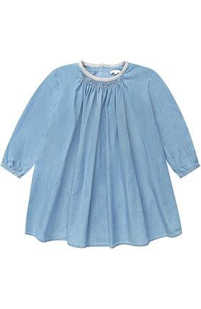Хлопковое мини-платье свободного кроя | Фото №1