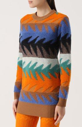 Удлиненный пуловер с круглым вырезом Missoni разноцветный | Фото №3