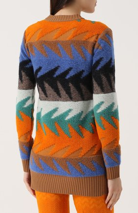 Удлиненный пуловер с круглым вырезом Missoni разноцветный | Фото №4