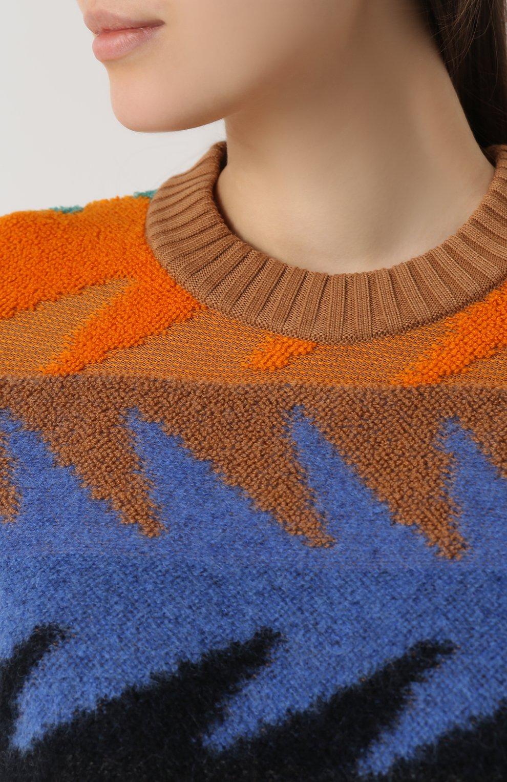 Удлиненный пуловер с круглым вырезом Missoni разноцветный | Фото №5