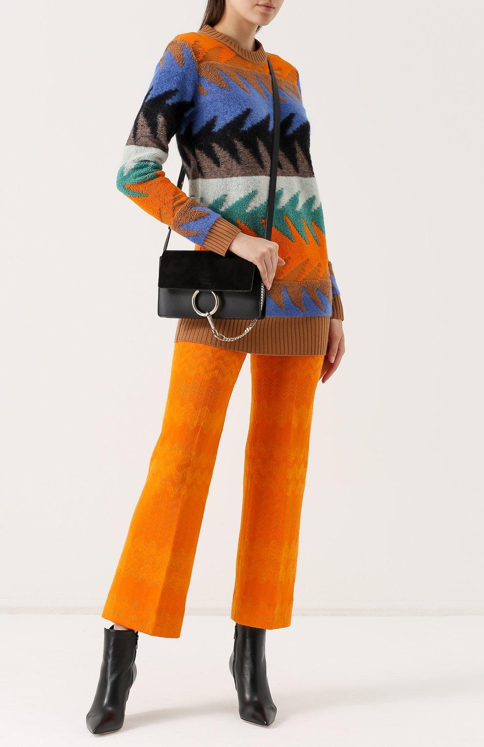 Укороченные расклешенные брюки | Фото №2