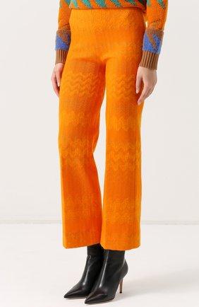 Укороченные расклешенные брюки | Фото №3