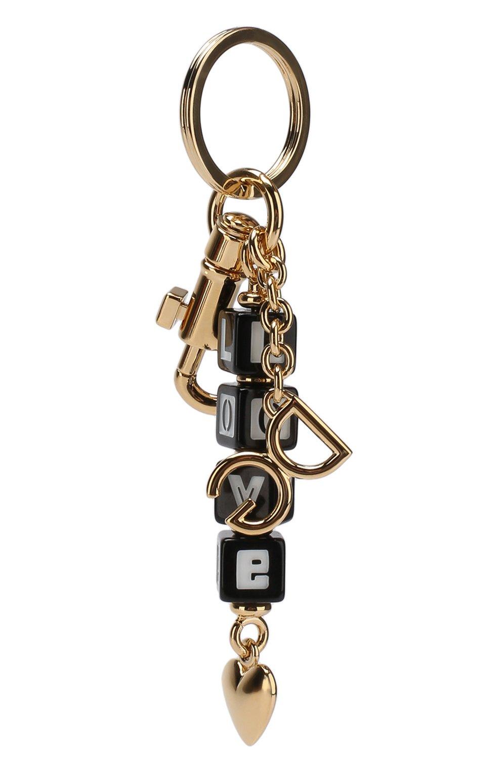 Брелок для ключей с логотипом бренда Dolce & Gabbana золотой | Фото №2