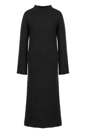 Удлиненный кашемировый свитер с высокими разрезами Le Kasha черный   Фото №1