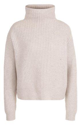 Кашемировый свитер фактурной вязки Le Kasha светло-бежевый   Фото №1
