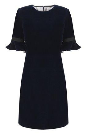 Бархатное мини-платье с коротким рукавом   Фото №1