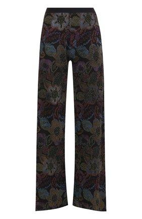 Расклешенные вязаные брюки с принтом | Фото №1