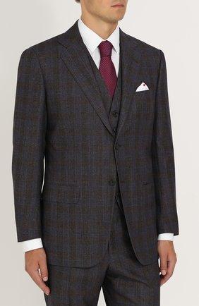 Мужской шерстяной костюм-тройка KITON коричневого цвета, арт. UAGL81K01X10 | Фото 2