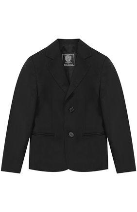 Костюм из шерсти с пиджаком на двух пуговицах | Фото №2