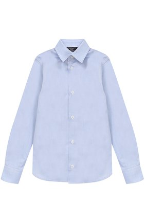 Детская хлопковая рубашка прямого кроя DAL LAGO темно-синего цвета, арт. N402/1167/4-6 | Фото 1