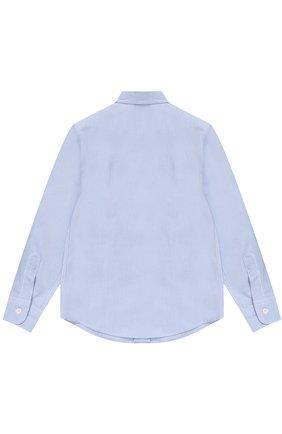 Детская хлопковая рубашка прямого кроя DAL LAGO темно-синего цвета, арт. N402/1167/4-6 | Фото 2