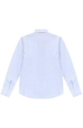 Детская хлопковая рубашка в мелкую клетку DAL LAGO светло-голубого цвета, арт. N402/2206/4-6 | Фото 2