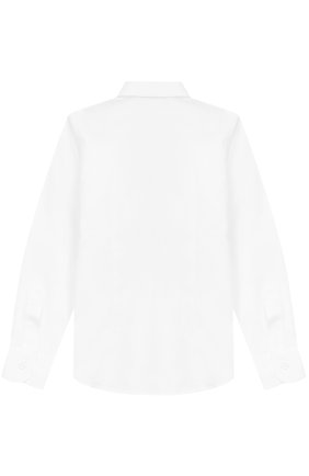 Детская хлопковая рубашка прямого кроя DAL LAGO белого цвета, арт. N402/7915/4-6 | Фото 2