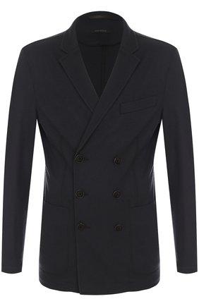 Мужской двубортный кашемировый пиджак GIORGIO ARMANI серого цвета, арт. ZSG08W/ZS956 | Фото 1