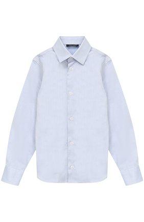 Детская хлопковая рубашка прямого кроя DAL LAGO синего цвета, арт. N402/1165/4-6 | Фото 1