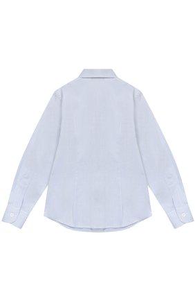Детская хлопковая рубашка прямого кроя DAL LAGO синего цвета, арт. N402/1165/4-6 | Фото 2