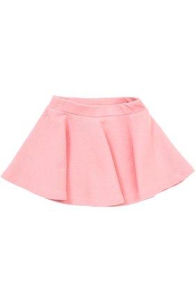 Хлопковая мини-юбка свободного кроя   Фото №1