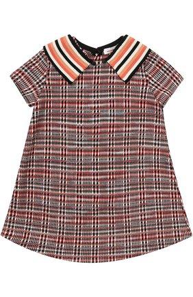 Вязаное мини-платье А-силуэта   Фото №1