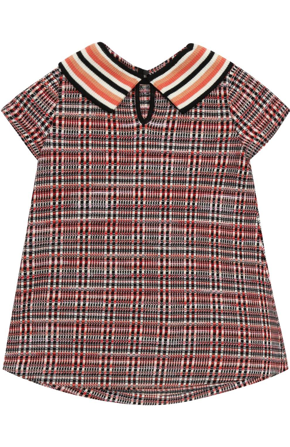 Вязаное мини-платье А-силуэта   Фото №2