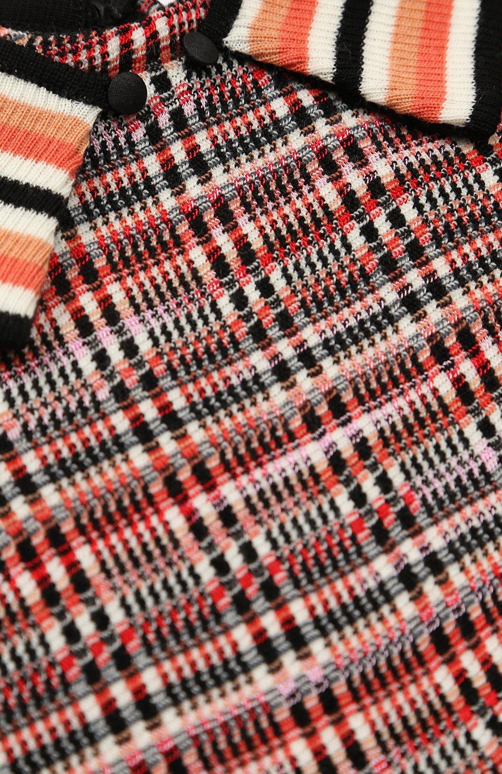 Вязаное мини-платье А-силуэта   Фото №3