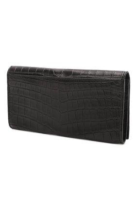 Мужской портмоне из кожи крокодила с отделениями для кредитных карт BOTTEGA VENETA черного цвета, арт. 120697/V912R | Фото 2