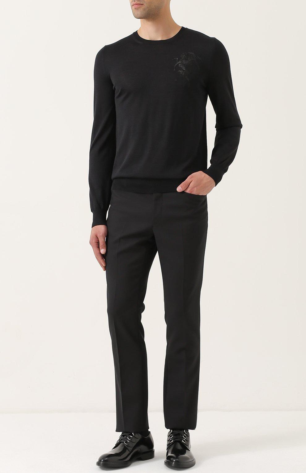 Джемпер тонкой вязки из смеси шерсти и шелка | Фото №2