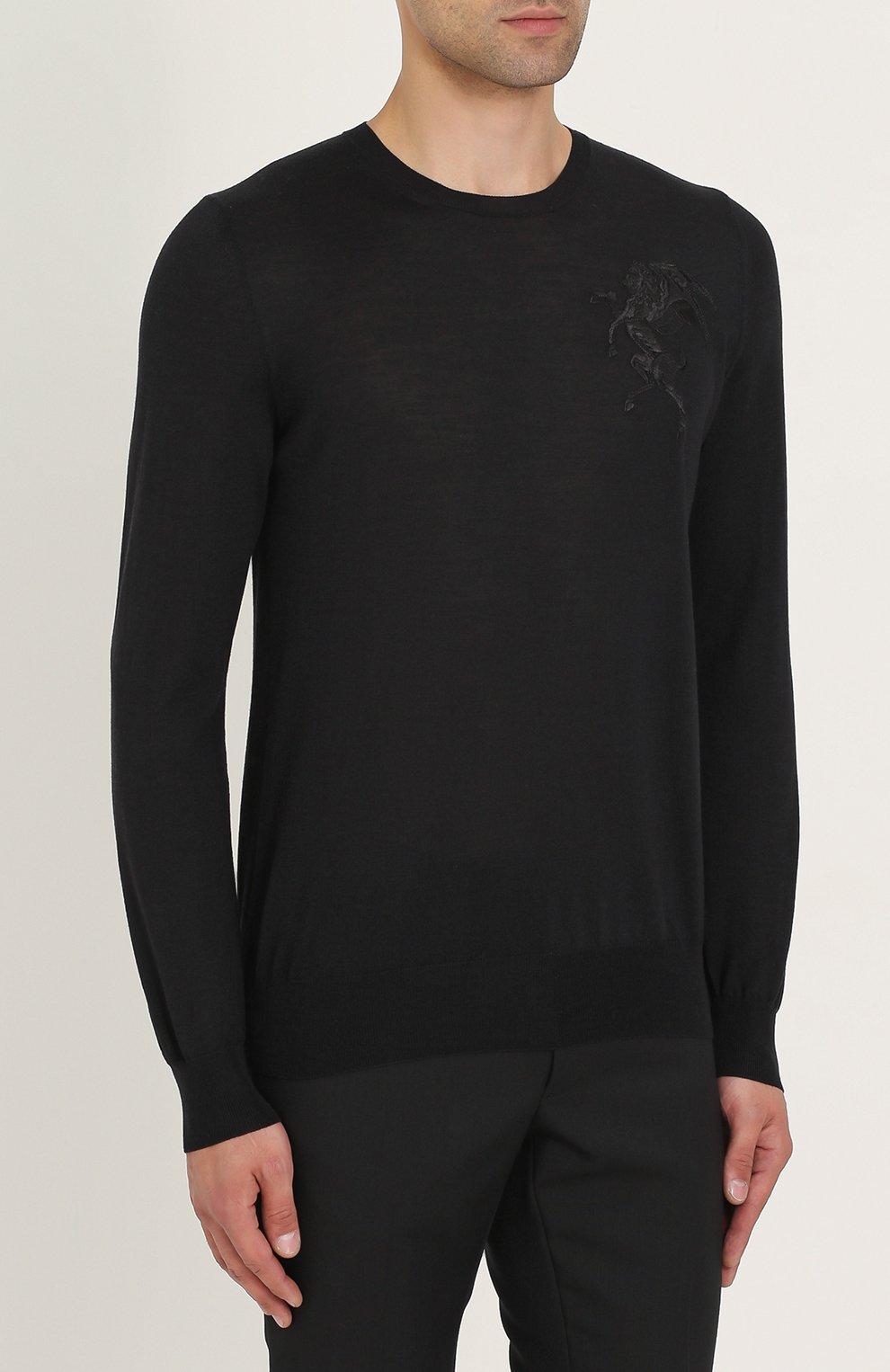 Джемпер тонкой вязки из смеси шерсти и шелка | Фото №3