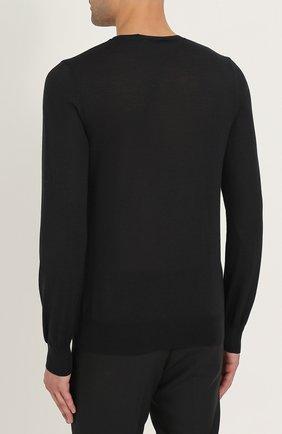 Джемпер тонкой вязки из смеси шерсти и шелка | Фото №4