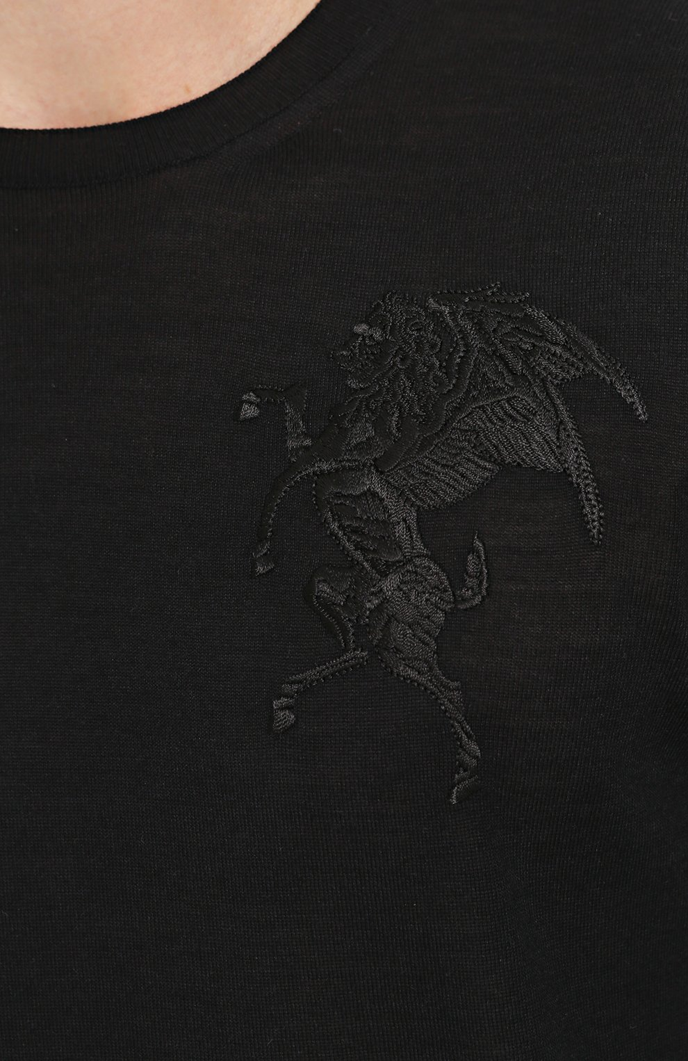 Джемпер тонкой вязки из смеси шерсти и шелка | Фото №5