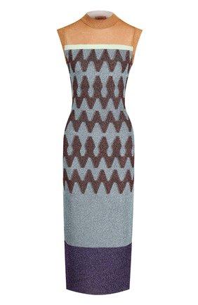 Вязаное платье-миди без рукавов Missoni разноцветное | Фото №1