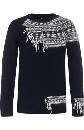 Шерстяной свитер с контрастной отделкой | Фото №1