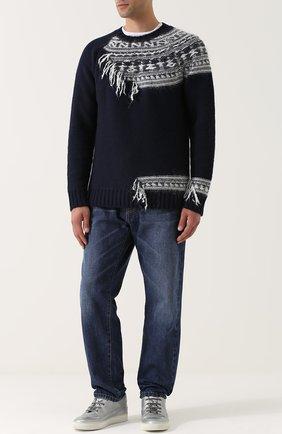 Шерстяной свитер с контрастной отделкой | Фото №2