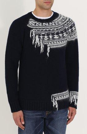 Шерстяной свитер с контрастной отделкой | Фото №3