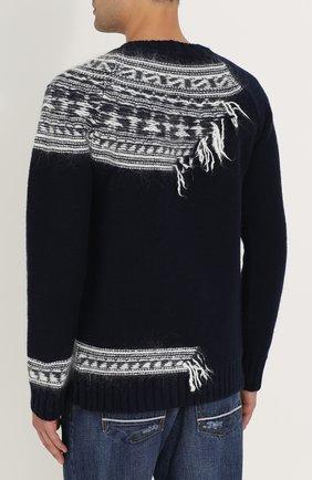 Шерстяной свитер с контрастной отделкой | Фото №4