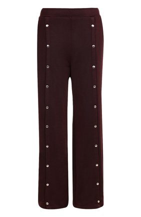 Широкие расклешенные брюки с карманами T by Alexander Wang бордовые | Фото №1