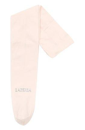 Детские колготки со стразами LA PERLA розового цвета, арт. 48828/1-3 | Фото 1
