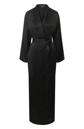 Женский шелковый халат LA PERLA черного цвета, арт. 0020293/LU | Фото 1