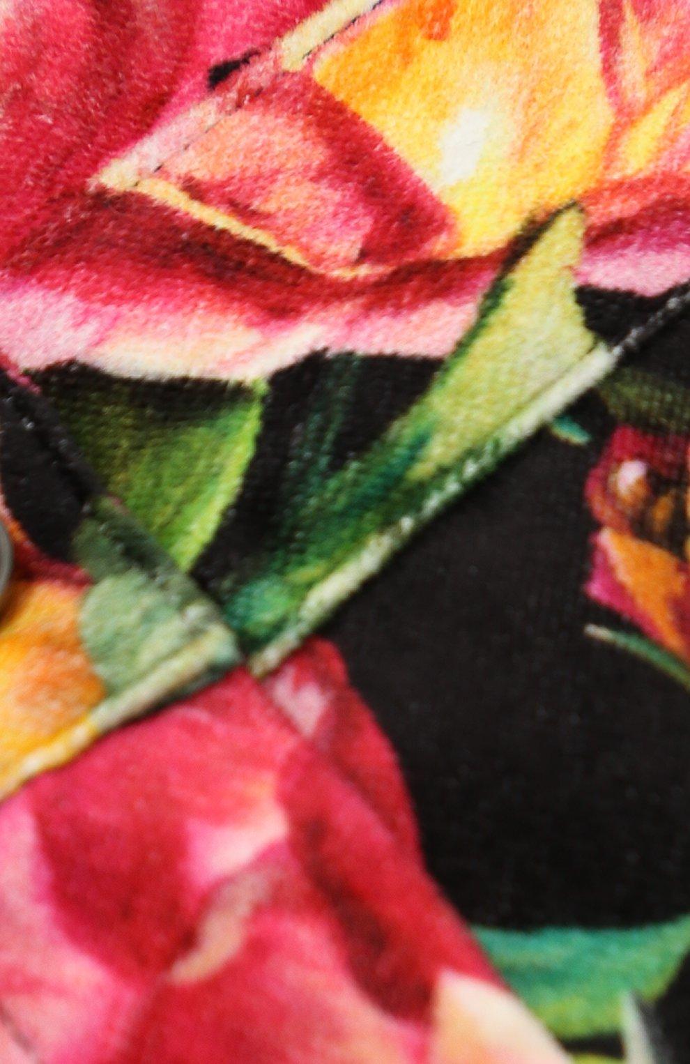 Детские джинсы прямого кроя с принтом Dolce & Gabbana черного цвета | Фото №3