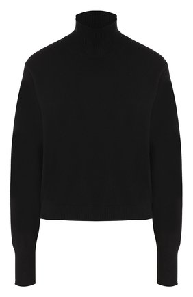 Кашемировый свитер свободного кроя Le Kasha черный   Фото №1