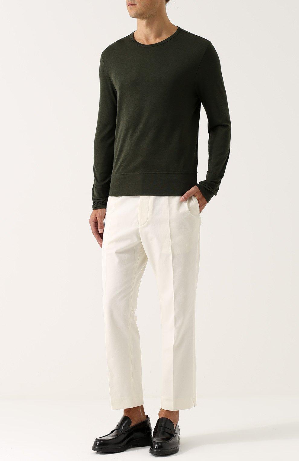 Джемпер тонкой вязки из смеси шелка и хлопка | Фото №2