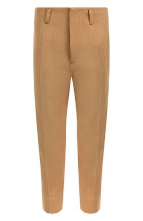 Шерстяные укороченные брюки прямого кроя