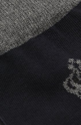 Детские носки с логотипом бренда Dolce & Gabbana синего цвета | Фото №2