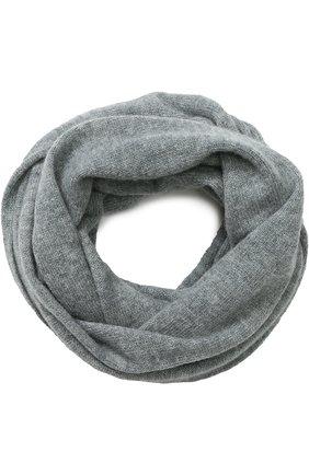 Кашемировый шарф-снуд Tegin серый | Фото №1