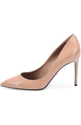 Лаковые туфли Kate на шпильке Dolce & Gabbana бежевые | Фото №3