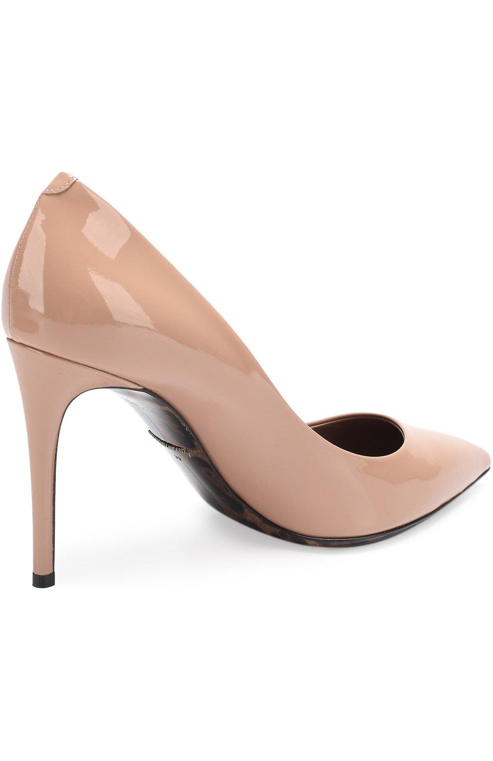 Лаковые туфли Kate на шпильке Dolce & Gabbana бежевые | Фото №4