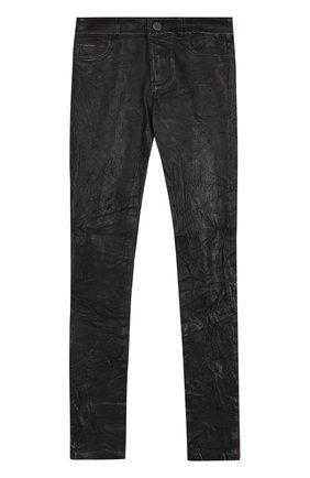 Женские укороченные кожаные брюки-скинни PAIGE черного цвета, арт. 3153A13-1086 | Фото 1