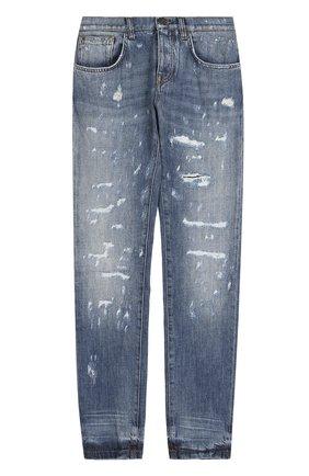 Женские джинсы DOLCE & GABBANA голубого цвета, арт. 0102/FTAY6D/G8V49 | Фото 1