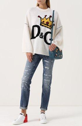 Женские джинсы DOLCE & GABBANA голубого цвета, арт. 0102/FTAY6D/G8V49 | Фото 2