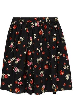 Хлопковая юбка-миди свободного кроя с принтом   Фото №2